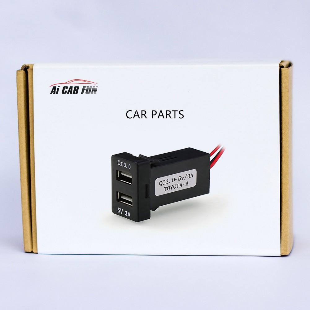 อุปกรณ์ชาร์จ USB 3 0 สำหรับรถยนต์ Toyota Car