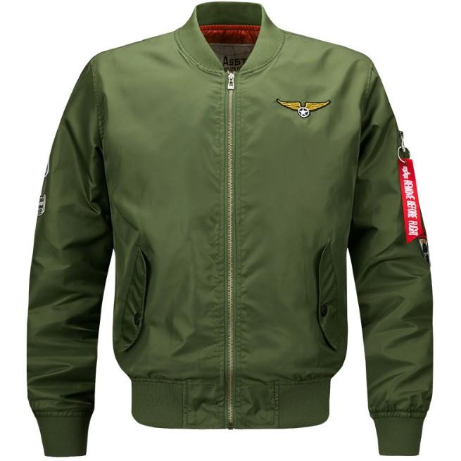 เสื้อแจ็คเก็ต Airforce - Flight Bomber Jacket แฟชั่นสําหรับผู้ชาย