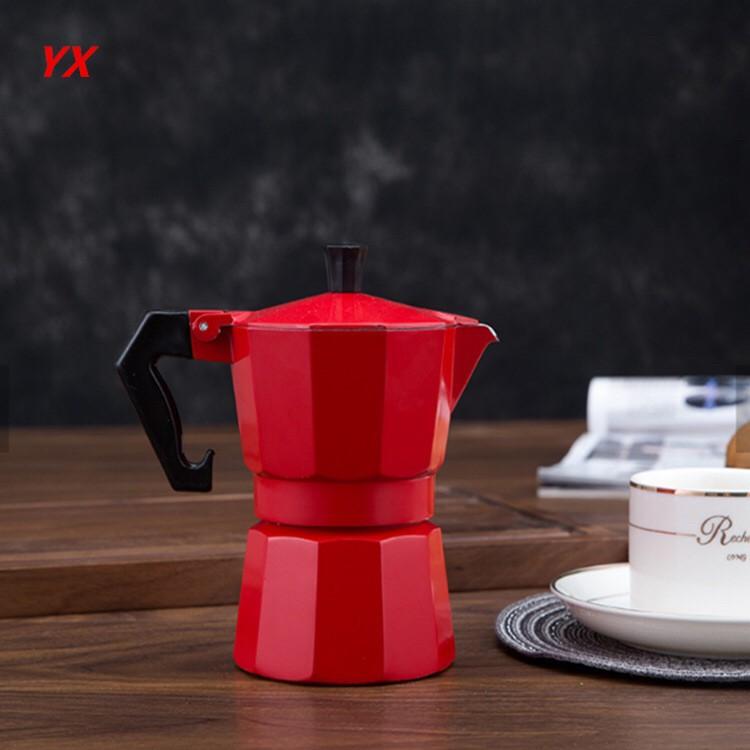 Moka Pot หม้อต้มกาแฟ เครื่องชงกาแฟ อุปกรณ์ทำกาแฟ เครื่องชงกาแฟอลูมิเนียม