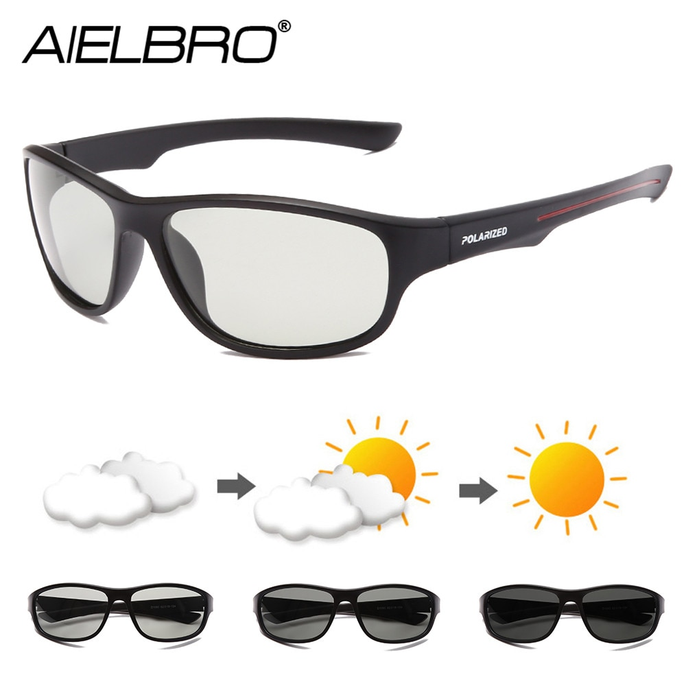AIELBRO Glasses Cycling Photochromic Sunglasses Man Cycling Glasses Polarized Cycling Glasses For Bicycle gafas ciclismo