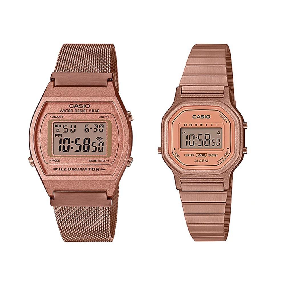 ┅✾นาฬิกาข้อมือ Casio Standard นาฬิกาข้อมือผู้หญิง สายสแตนเลส รุ่น B640WMR-5A,LA-11WR-5A digZ