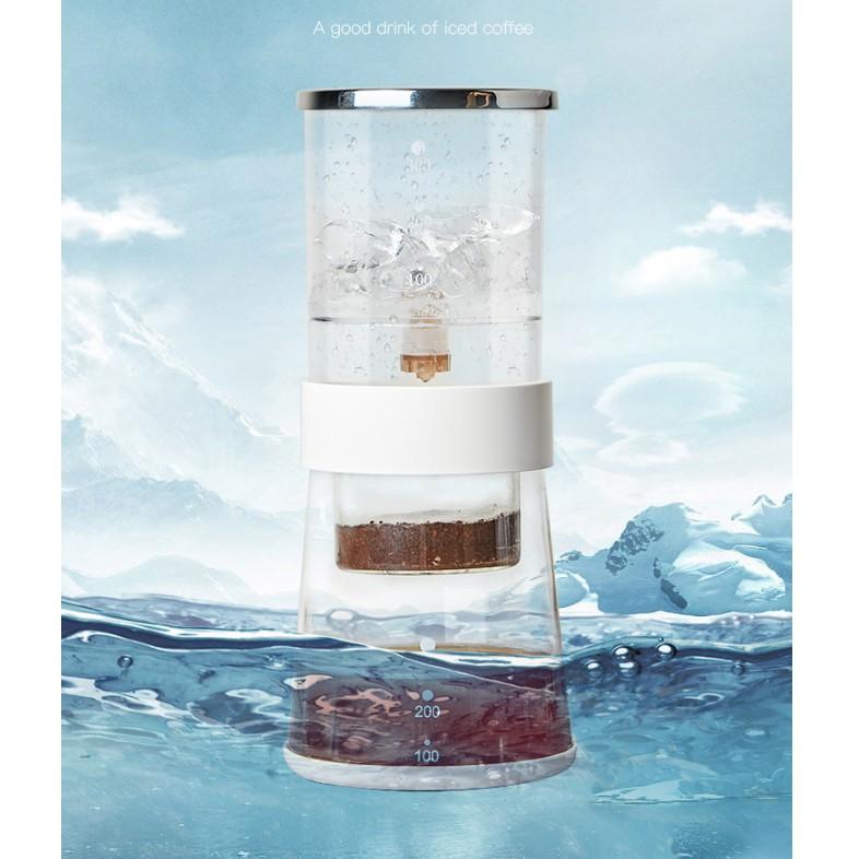 เครื่องทำน้ำแข็งแบบหยด, แบบหยดกาแฟ, เครื่องทำน้ำแข็งแบบหยด, กาต้มน้ำแบบหยด, สารสกัดรูปกรวยกาแฟเย็น