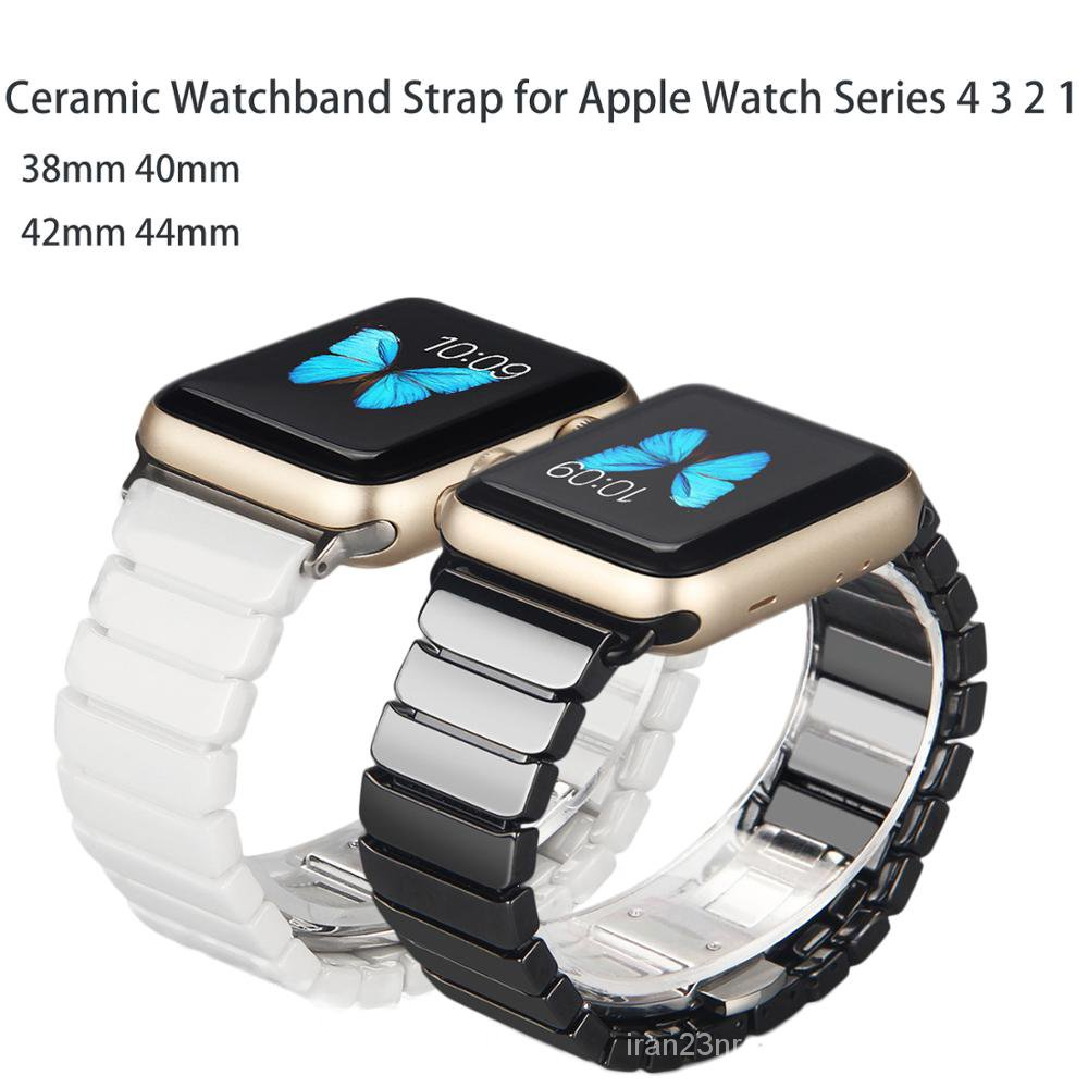 Ceramic Watchband for Apple Watch band 44mm 42mm Smart Watch Link Strap Bracelet Ceramic Watchband series 6 5 4 3 40mm 3