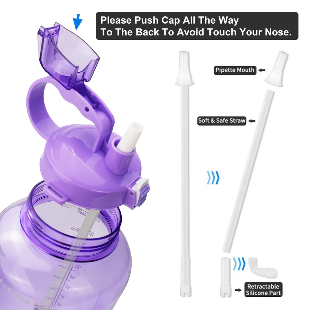 QuiFit ขวดน้ำ สไตล์สปอร์ต ปราศจาก BPA 2 ลิตร