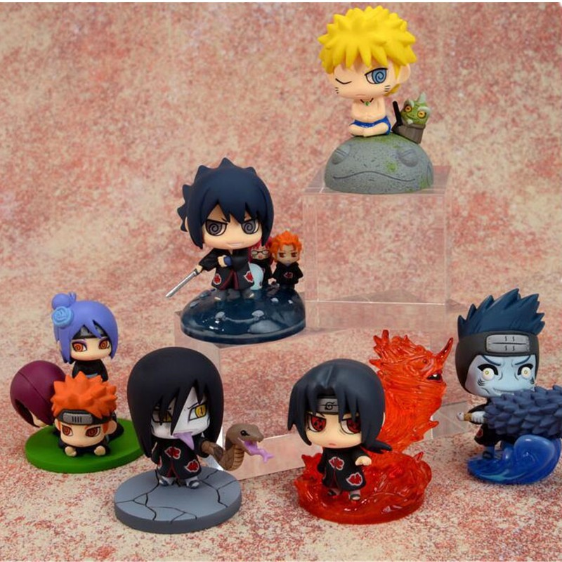 ☌❧Toys Suit Model-Collection Blind-Box Garage-Kit Action-Figure Naruto Sasuke Kakashi Birthday-Gift