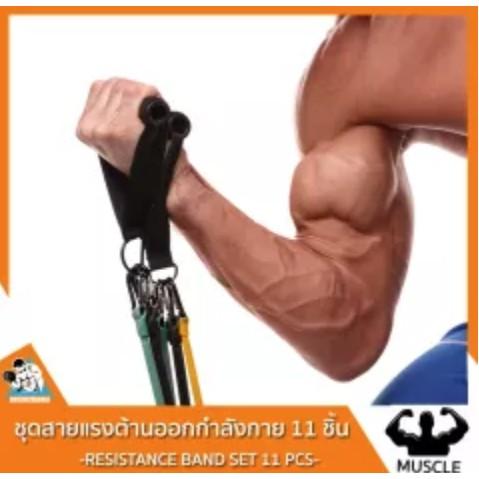 สายแรงต้านออกกําลังกาย สายแรงต้านยางยืด สายแรงต้าน ออกกําลังกาย 5 ระดับ ยางยืดออกกำลังกาย