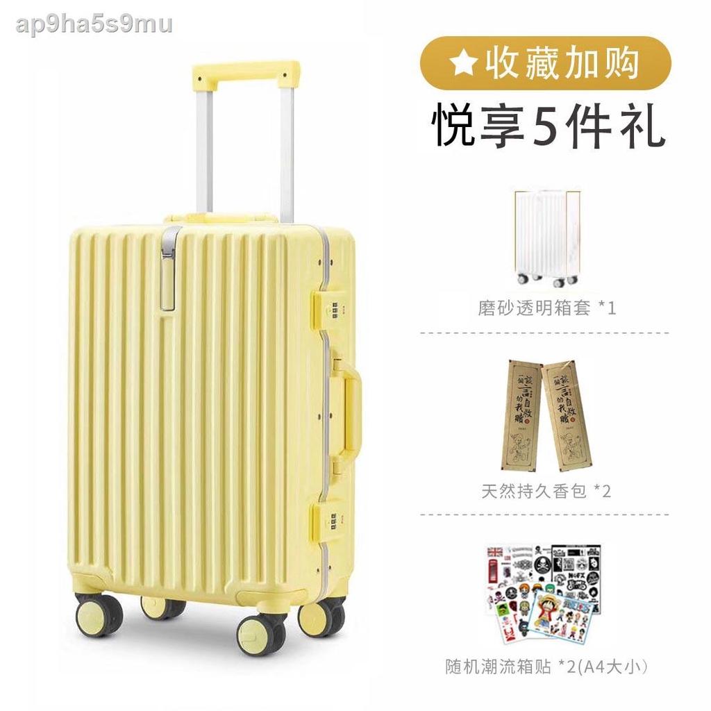เทรนด์☃ↂ☏> กระเป๋าเดินทาง โครงอลูมิเนียม โครงอลูมิเนียม รถเข็นนักเรียน ขนาดเล็ก 20 ใบและ กระเป๋าเดินทาง 18 ใบ น้ำหนักเบา