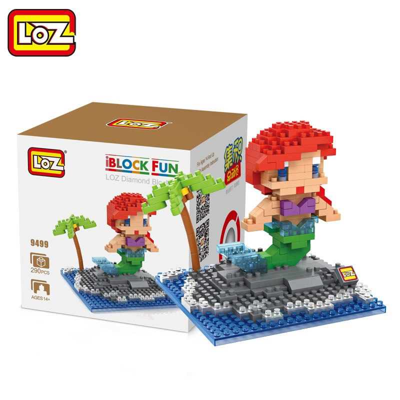 Mini LOZ Frozen Building Blocks Educational Toy Cartoon FUN Nano Assembly Gift