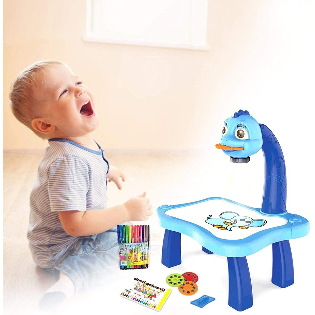 Drawing Projector for Kids, Painting Projector Table with Built-in Music,  Kids Educational Toys for 5 Year Old, Boy Toys, for Age 3+ | Shopee Thailand