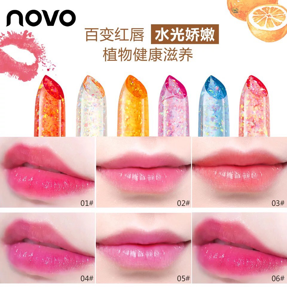 Novo Jelly Plant Temperature Diamond Red Foil Gold Crystal Color Change