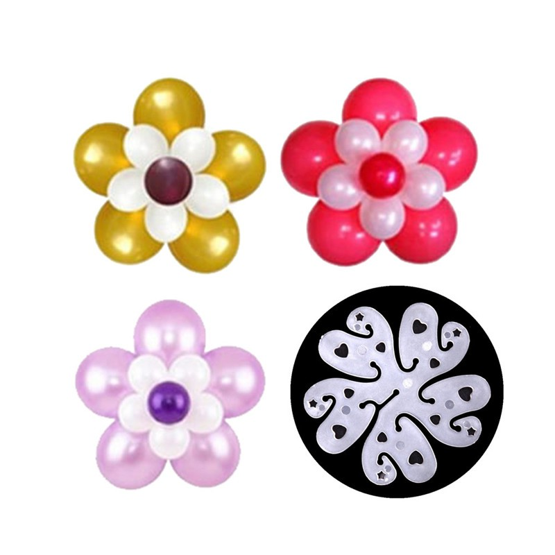 10pcs Clip Party Tie Xmas Birthday Plum Flower Wedding Balloon Decoration