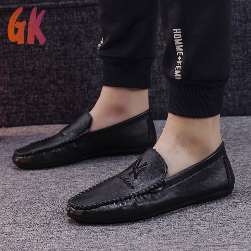 Gkd✔ รองเท้าโลฟเฟอร์หนัง สีดำ สำหรับผู้ชาย รองเท้าคัชชู ผู้ชาย