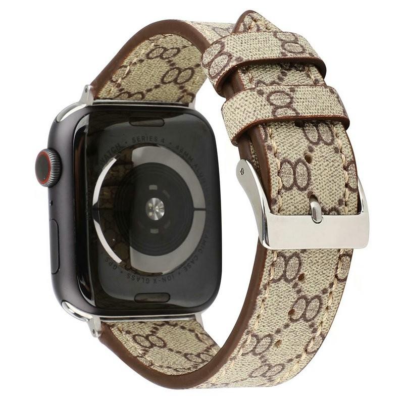 ใช้กับ Apple / apple watch series 4/5 สายนาฬิกาข้อมือ iwatch123 สายหนัง Gucci
