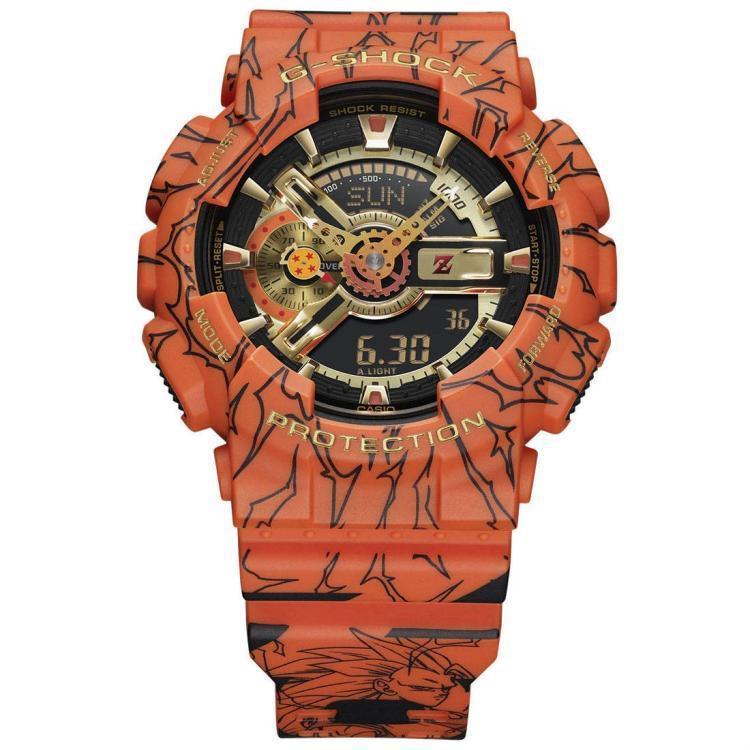 Casio G-SHOCK x Dragonball Z ดราก้อนบอลZOne Piece Lufeiนาฬิกาผู้ชาย GA-110JDB-1A4