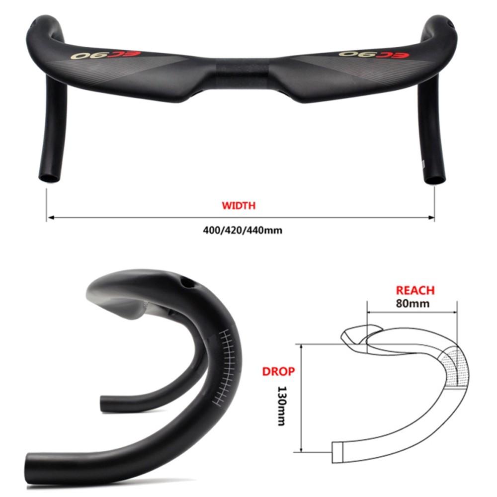 Carbon Fiber Handlebar MTB Bicycle Racing Handlebar Drop Bar  31.8*420//440mm