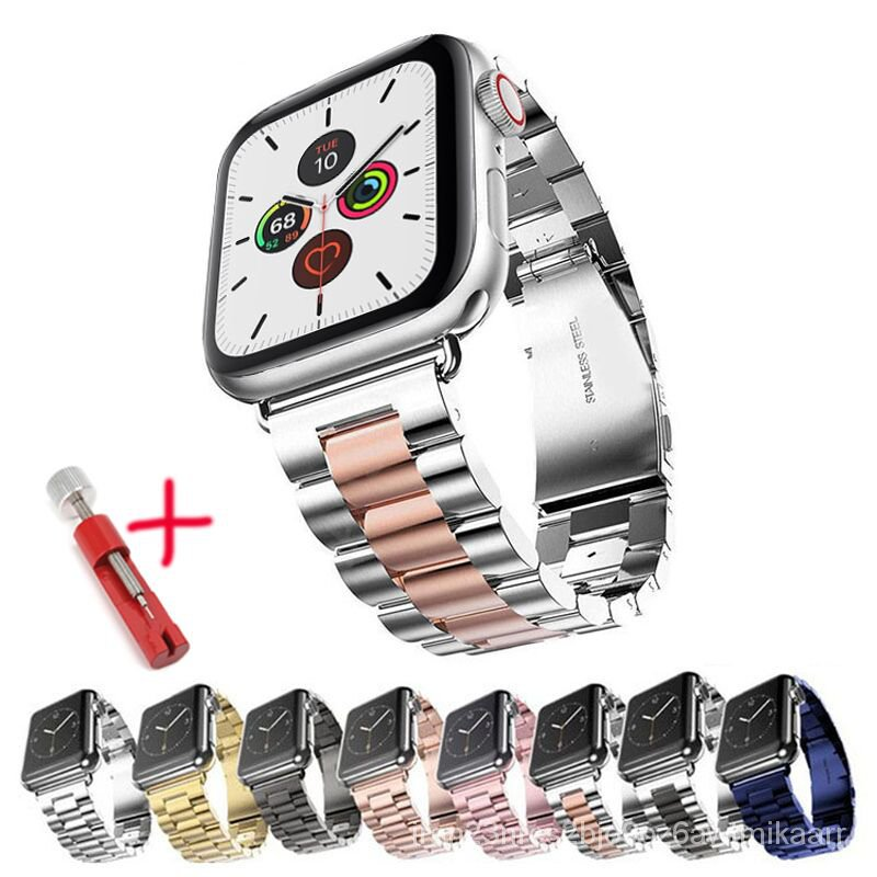 Strap For Apple Watch band 44 mm 40mm 42mm 38mm Metal Stainless Steel Link Bracelet Strap iwatch Series 4 5 3 2 1 Watchb
