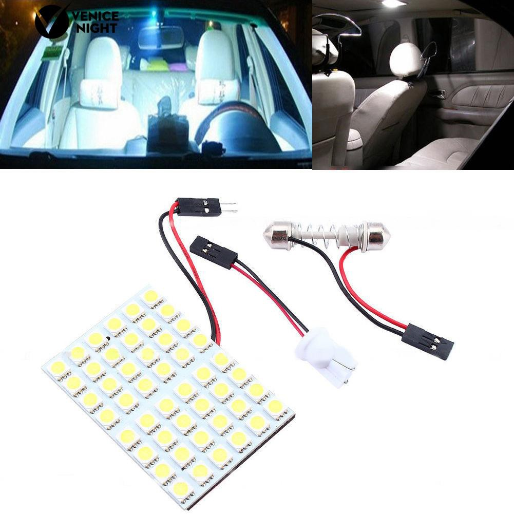 * SMD 48LEDs T10 4W 12V ไฟภายในรถแผงด้านข้างสีขาวไฟ LED Dome