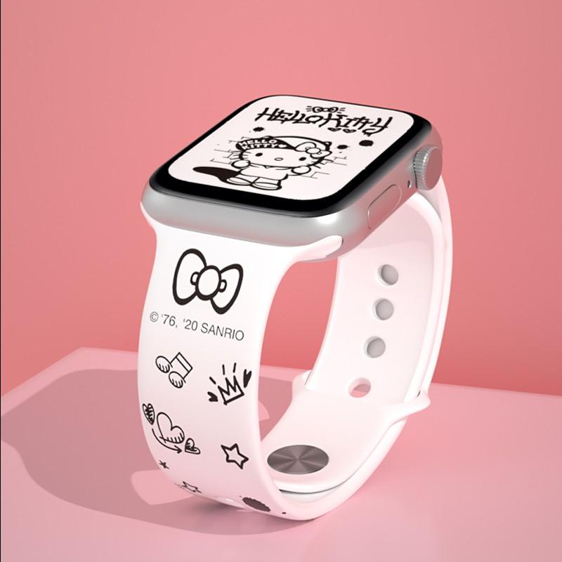 applewatch6 เข็มขัด✜✓✳สายนาฬิกา Apple hellokitty ของแท้อย่างเป็นทางการ iwatch4 / 5 6 se Hello Kitty สายรัด applewatch ส