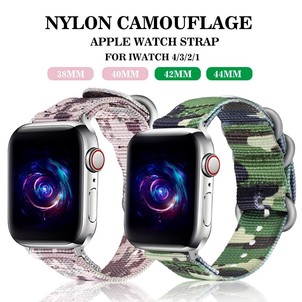 Apple Watch สายรัดสายรัดไนลอน Watch band strap สาย iwatch Bracelet 38 44มม. strap Apple Watch Series 5 4 3 2 1 band