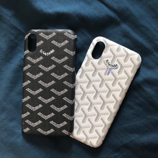 Goyard iphoneX Case black/white