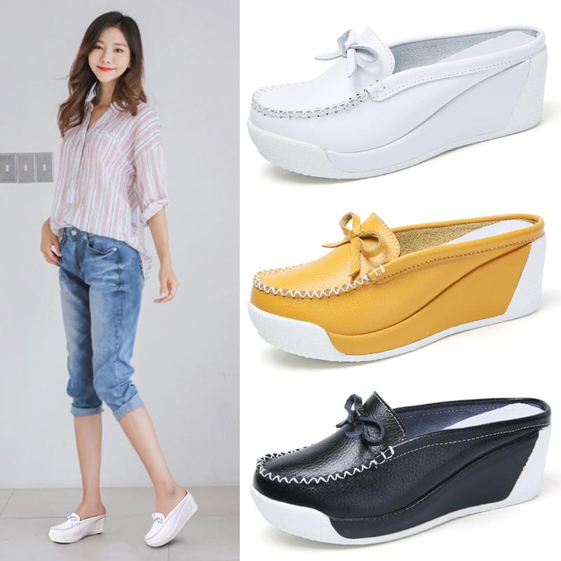 รองเท้าคัชชู รองเท้าผ้าใบเปิดส้น รองเท้าเปิดส้นผู้หญิง รองเท้าแฟชั่น 2020 รองเท้าผู้หญิง