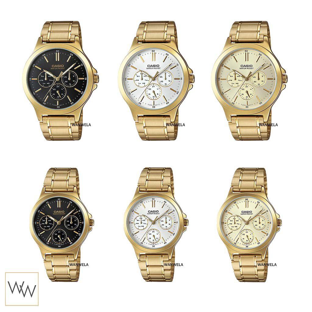 [ใส่โค้ดลดเพิ่ม 8%*] ของแท้ นาฬิกาข้อมือ Casio รุ่น MTP-V300G / LTP-V300G สายสแตนเลส