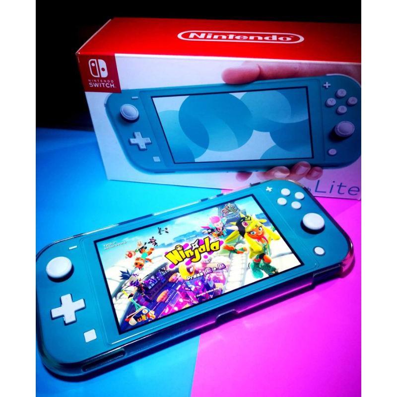 Nintendo switch lite มือสองสีฟ้า