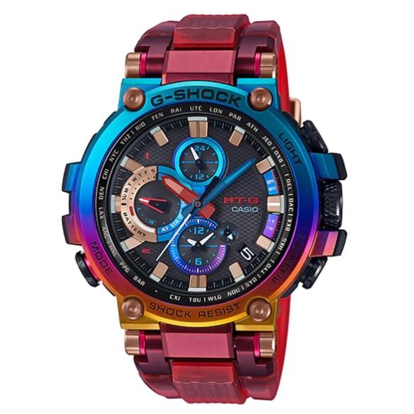Casio G-Shock นาฬิกาข้อมือผู้ชาย สายเรซิ่น รุ่น  MTG-B1000VL,MTG-B1000VL-4A - หลากสี