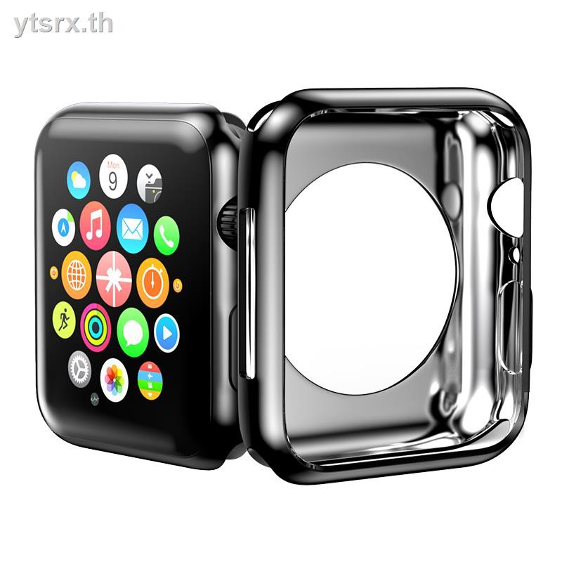 Airpods caseFashion tpu caseเคสAirPods1/2 Case biaze applewatch protective shell Apple s5 watch iwatch 5 generation 4/3/2/1 electroplated silicone half-pack cover 44/42/40/38mm light and thin anti-drop accessories
