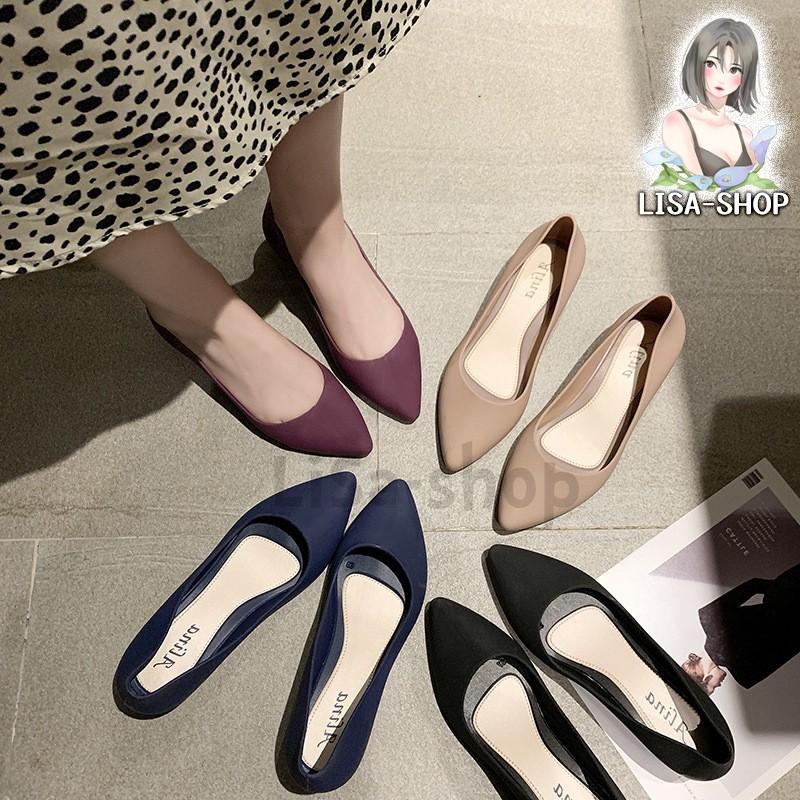 รองเท้าคัชชูไหม่ล่าสุด รองเท้าทำงาน รองเท้าแฟชั่นสุดฮิต รองเท้าผู้หญิง  รองเท้าสวม รองเท้าใส่สบายนิ่มเท้า T12