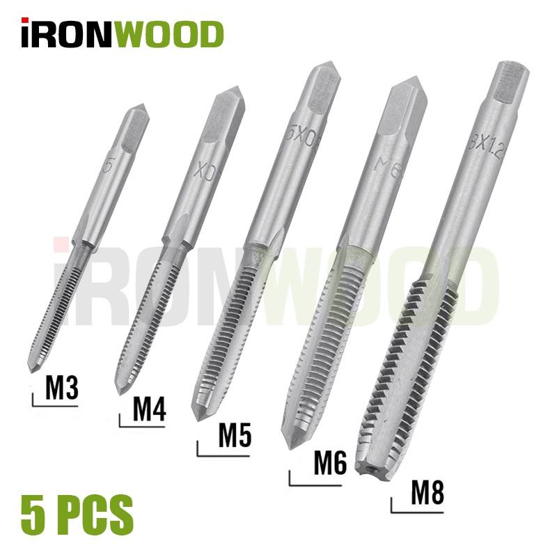 5pcs Metric left hand Thread Wrench Die M3*0.5 M4*0.7 M5*0.8 M6*1.0 M8*1.25