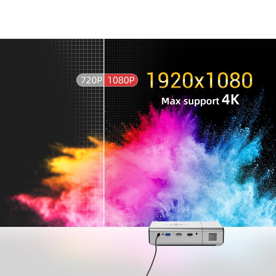 ✗BYINTEK U50 Full HD 1080P LED DLP Mini 3D Android Smart Portable Projector สำหรับสมาร์ทโฟน 4K Cinema