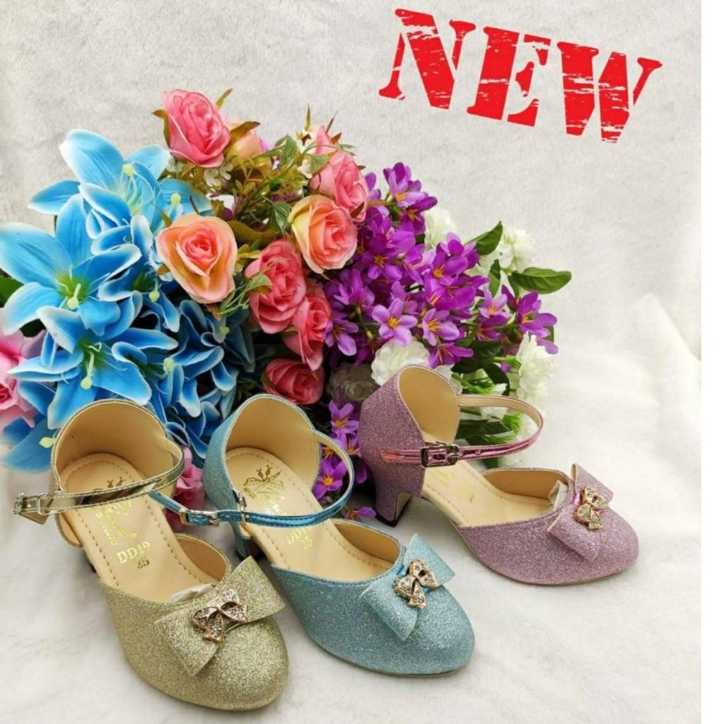 รองเท้าคัชชูส้นสูงสำหรับเด็กผู้หญิง รองเท้าแฟชั่น น่ารัก ใส่สบาย มี 3 สีให้เลือก ไชส์ 25-30