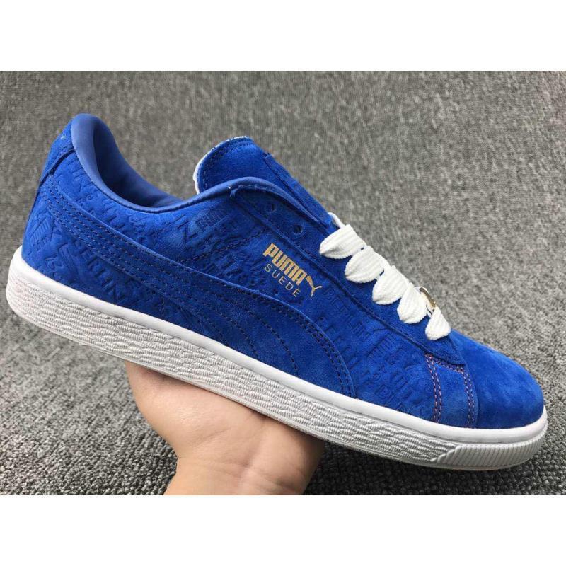 cheap for discount a0055 a4a95 Puma Suede Classic X Paul Stanley รองเท้ากีฬาสีฟ้า 2