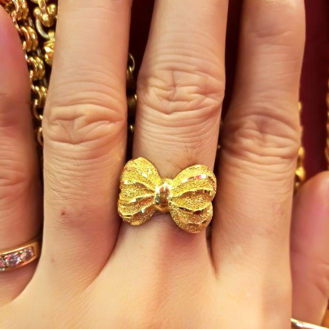 แหวนทองแท้ 96.5% น้ำหนักทอง 2 สลึง ราคา 14,700