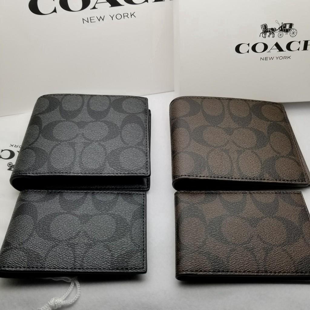 Coach F74993 Wallet / กระเป๋าเงิน / กระเป๋าตัง / กระเป๋าสตางค์ผู้ชาย / กระเป๋าสตางค์ใบสั้น / กระเป๋าสตางค์หนัง / กระเป๋า