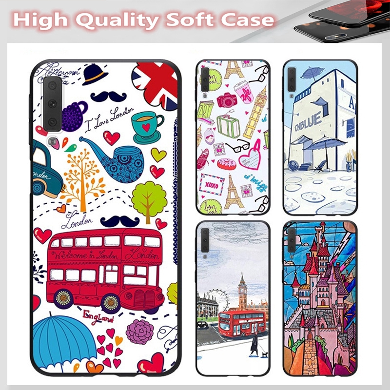 casing for SAMSUNG A2 CORE J7 Pro J7 PLUS A6 A6+ A7 A8 A8+ A8 Star A9 2018 Cover Cute car Soft Case