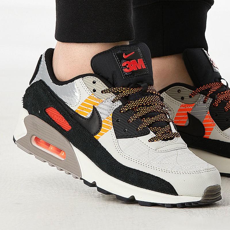 ราคาถูกจัดส่งที่รวดเร็ว☏♙Nike Air Max 90 Men s Air Cushion Shock Absorbing Casual Shoes Retro Running Sneakers CZ2975-00