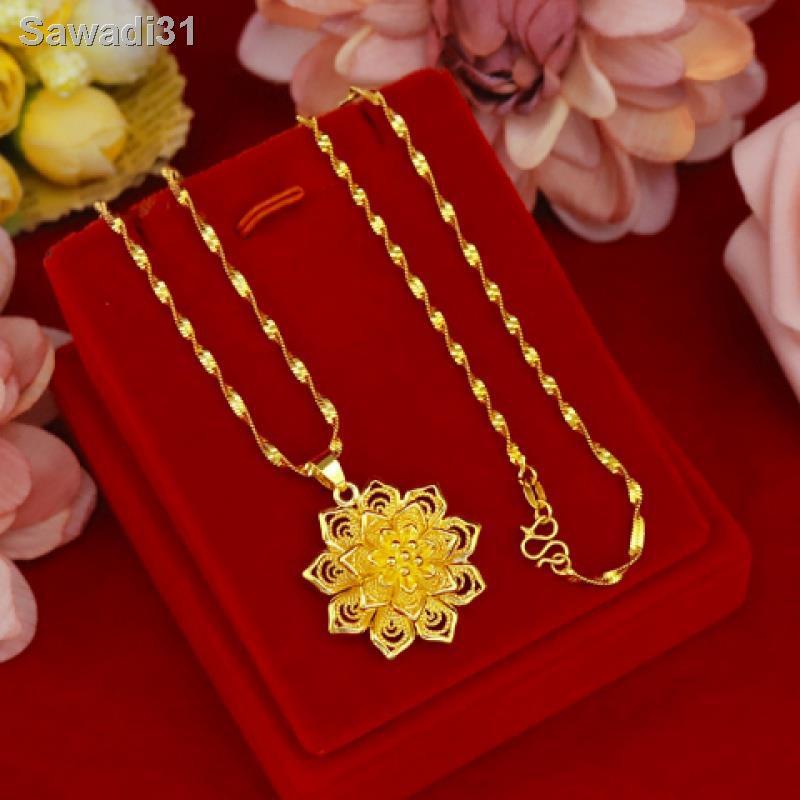 🔥สินค้าคุณภาพราคาถูก🔥ฮ่องกง 9999 สร้อยคอทองคำแท้สร้อยคอทองคำแท้ของผู้หญิงสร้อยคอทองคำของผู้หญิงของขวัญแต่งงาน1