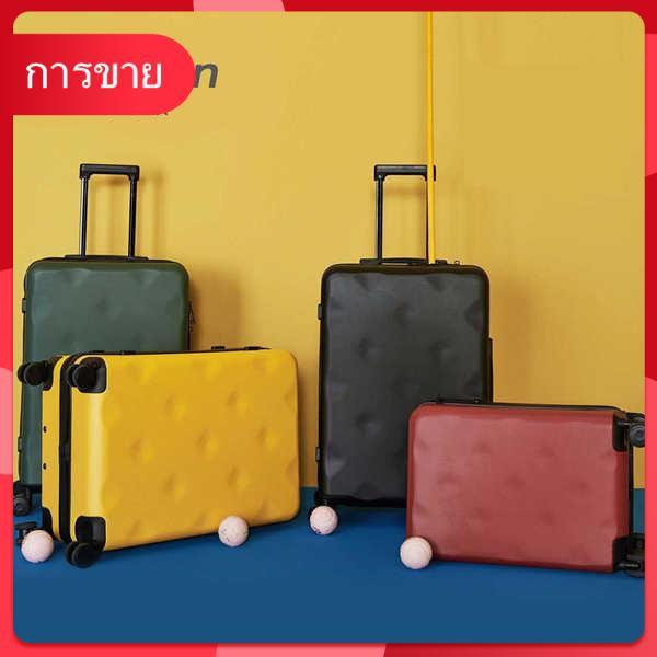 Bulaimei กระเป๋าเดินทางหญิง 24 นิ้วขนาดเล็ก 20/22 นักเรียนชายรถเข็นเดินทางกล่องรหัสผ่าน 26 กล่องหนัง