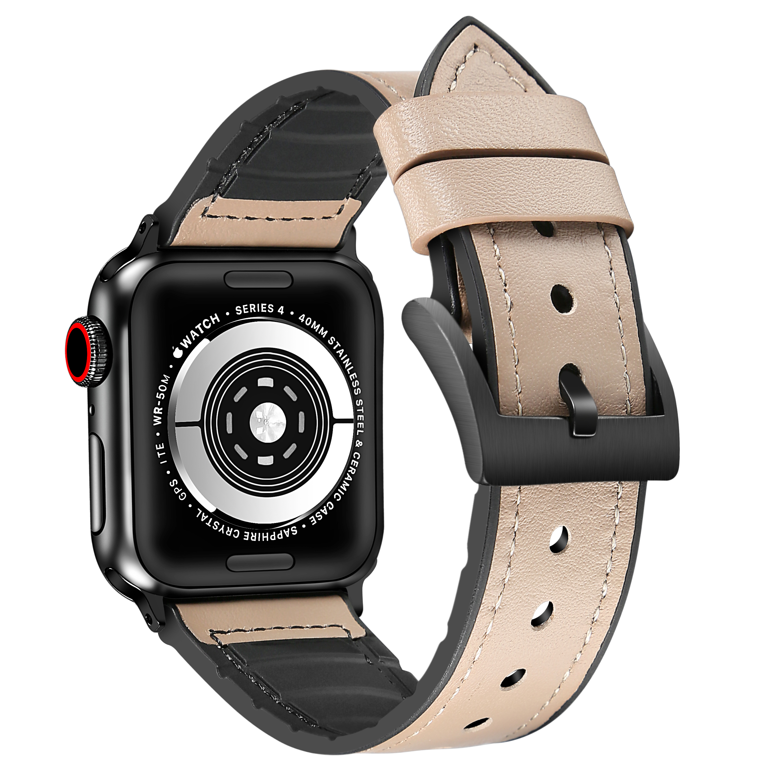 ♭ゅสายนาฬิกา 20mmสายนาฬิกาหนังสายนาฬิกาบังคับ Apple Watch หนังรุ่นที่ห้า applewatch series6/5สายหนัง iwatch3/4SE