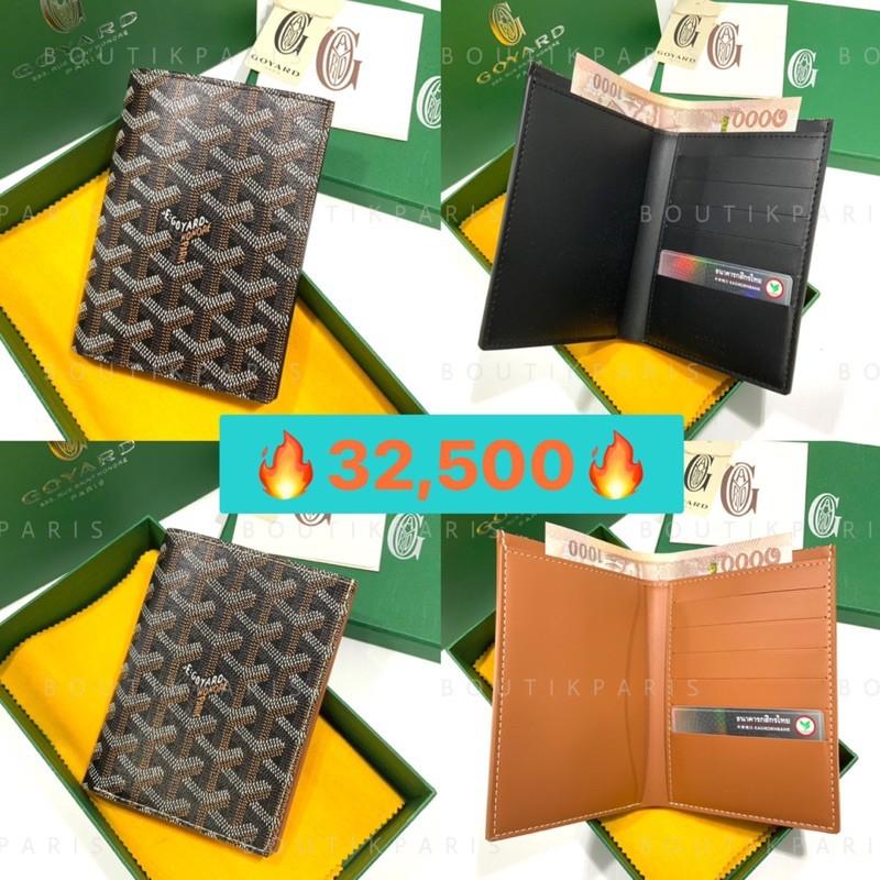 สต๊อคพร้อมส่ง New Goyard Medium Bi Fold Wallet กระเป๋าสตางค์ทรงตั้ง กระเป๋าสตางค์แนวตั้ง