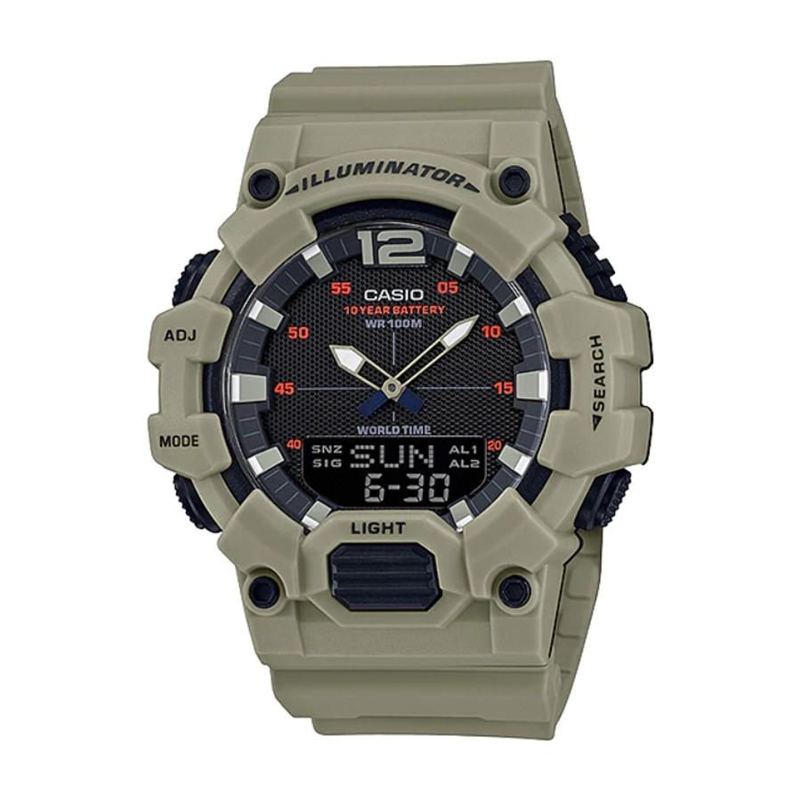 Casio Standard นาฬิกาข้อมือผู้ชาย สายเรซิน รุ่น  HDC-700,HDC-700-3A3 - สีน้ำตาล