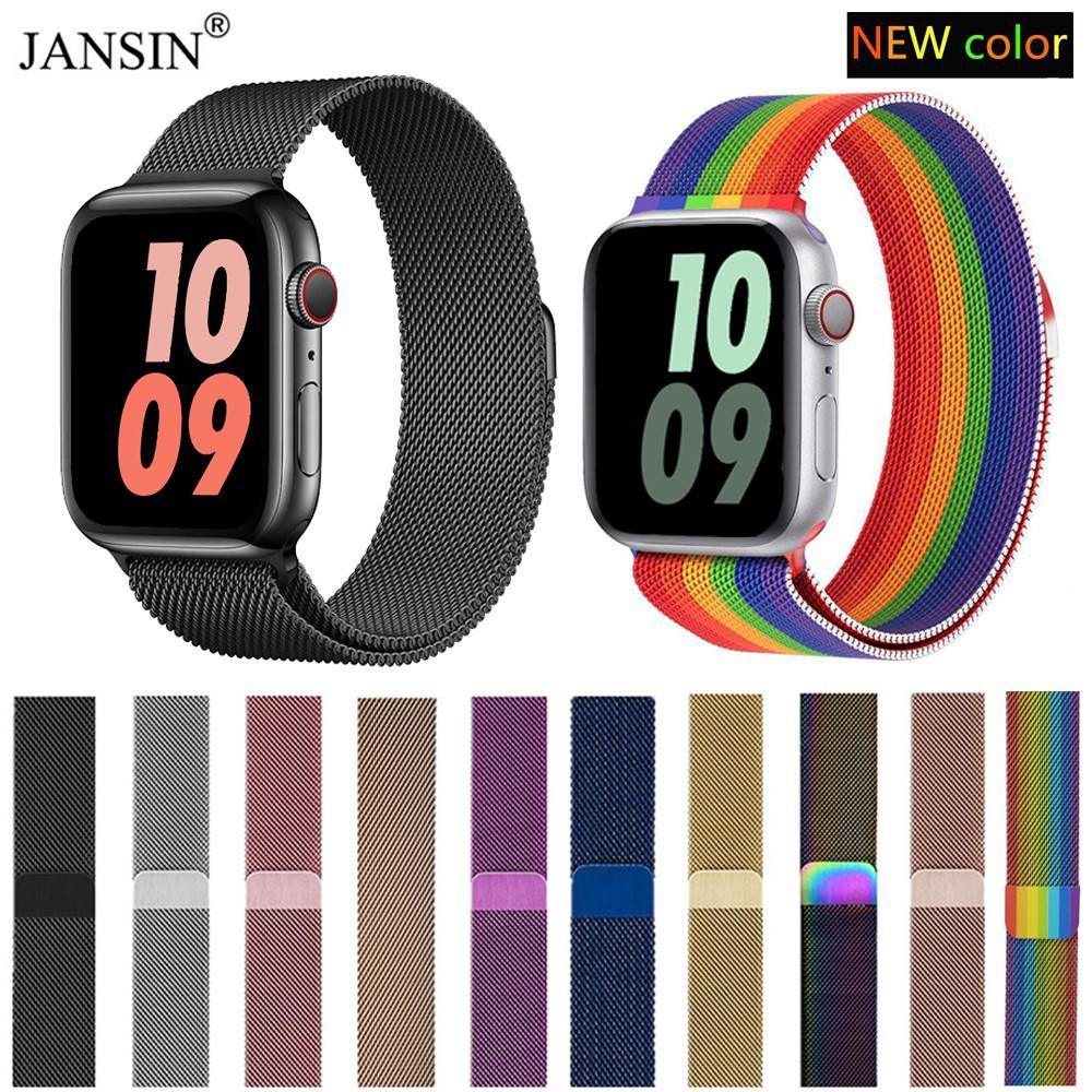 สาย applewatch สายเปลี่ยนนาฬิกาข้อมือ Apple Watch Milanese Loop Series 1 / 2 / 3 / 4 / 5 Apple Watch band สาย applewatch