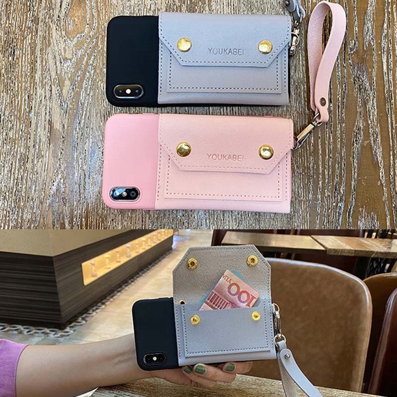 Samsung J3 J7 2015 2016 J3Pro J5Pro J7Pro J4 J6 J2Pro 2018 J4Plus J6Plus J2Prime J7Prime A5/2016 A5/2017 A5 A6 A6Plus A9 A8 A5 2018 Phone Case  Bank Card Bag Coin Purse TPU Soft Cover กรณี