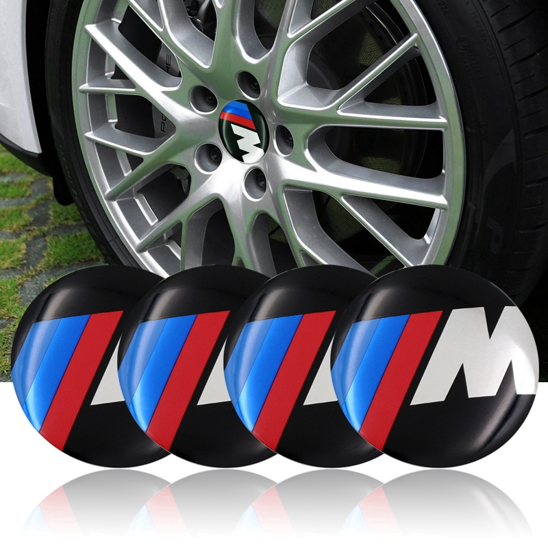4Pcs 56MM Car Rim Wheel Center Hub Caps Resin Badge Wheel Decal Sticker for BMW F30 F20 F10 F15 F13 M3 M5 M6 X1 X3 X5 X6 320I 116I 118I 328I 530I Car Accessories