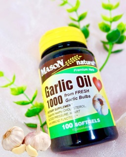 Mason Naturals, Garlic Oil 1000, 100 Softgels