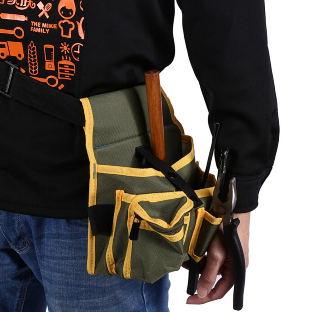 Canvas Tool Waist Bag Belt Utility Toolkit Pocket Pouch Organizer Pack Holder