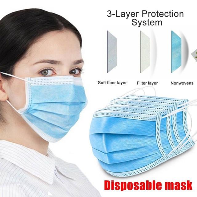 แมส หน้ากาก ผ้าปิดจมูก 1กล่อง / 50 ชิ้น ป้องกันเชื้อโรค import surgical face mask
