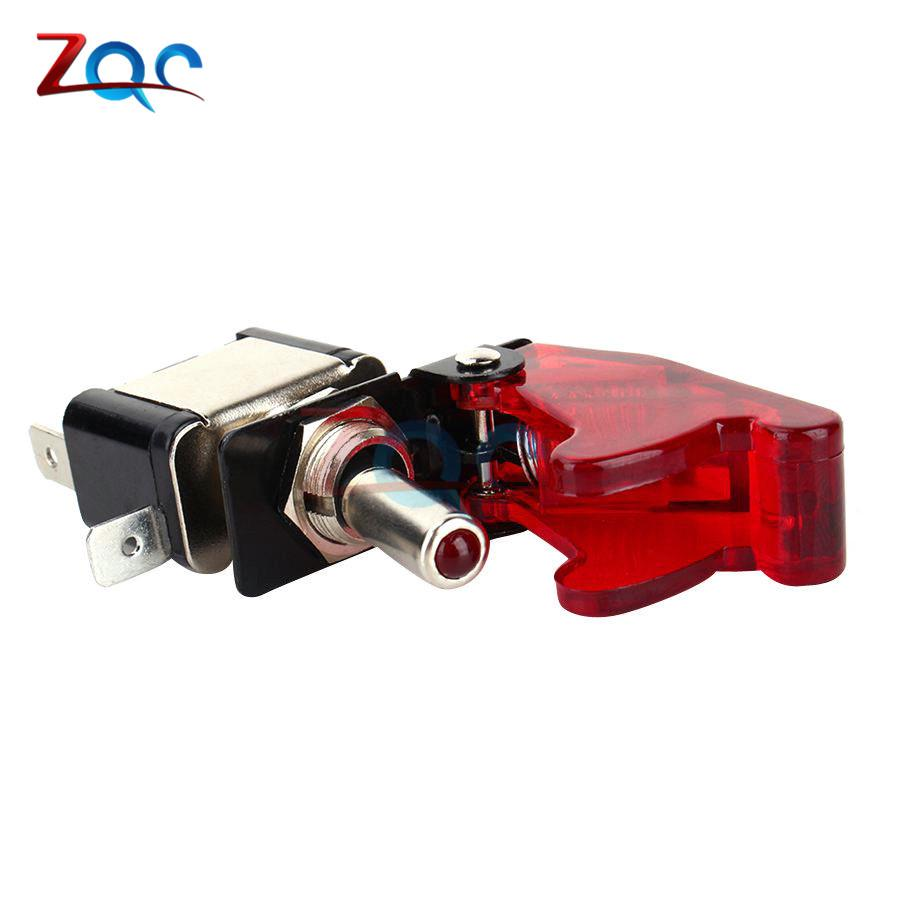 Hot Deal Car Auto Cover Racing Red LED SPST On Off Aircraft